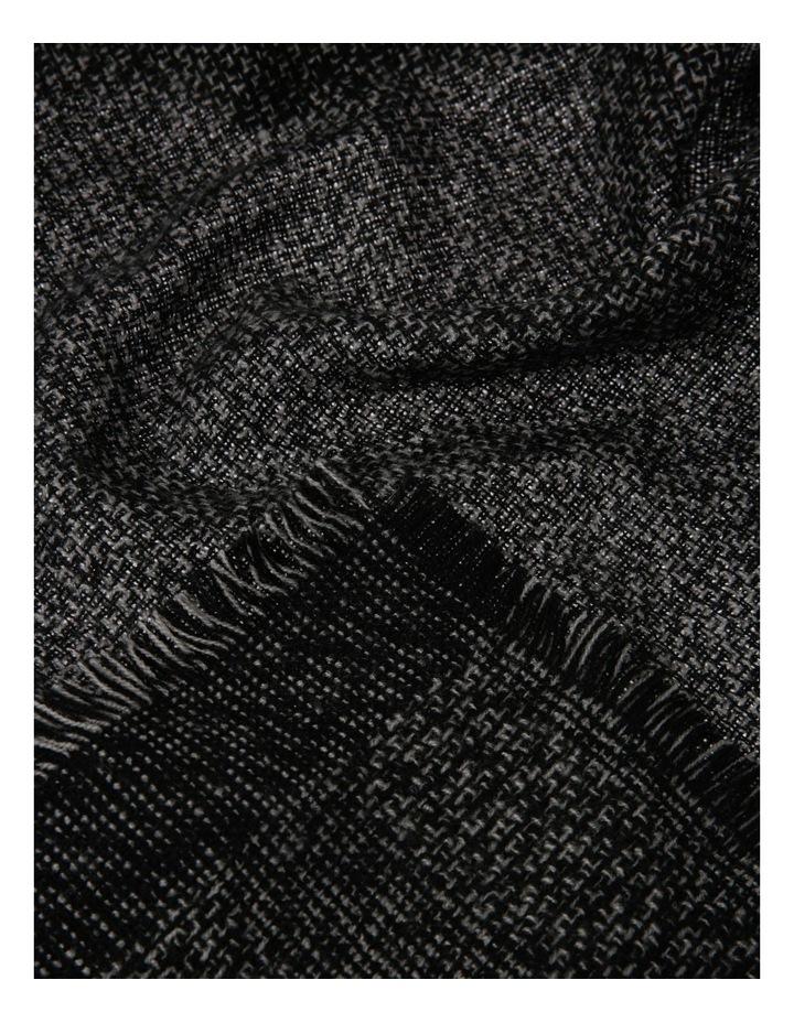 Woven Black Winter Scarf image 2