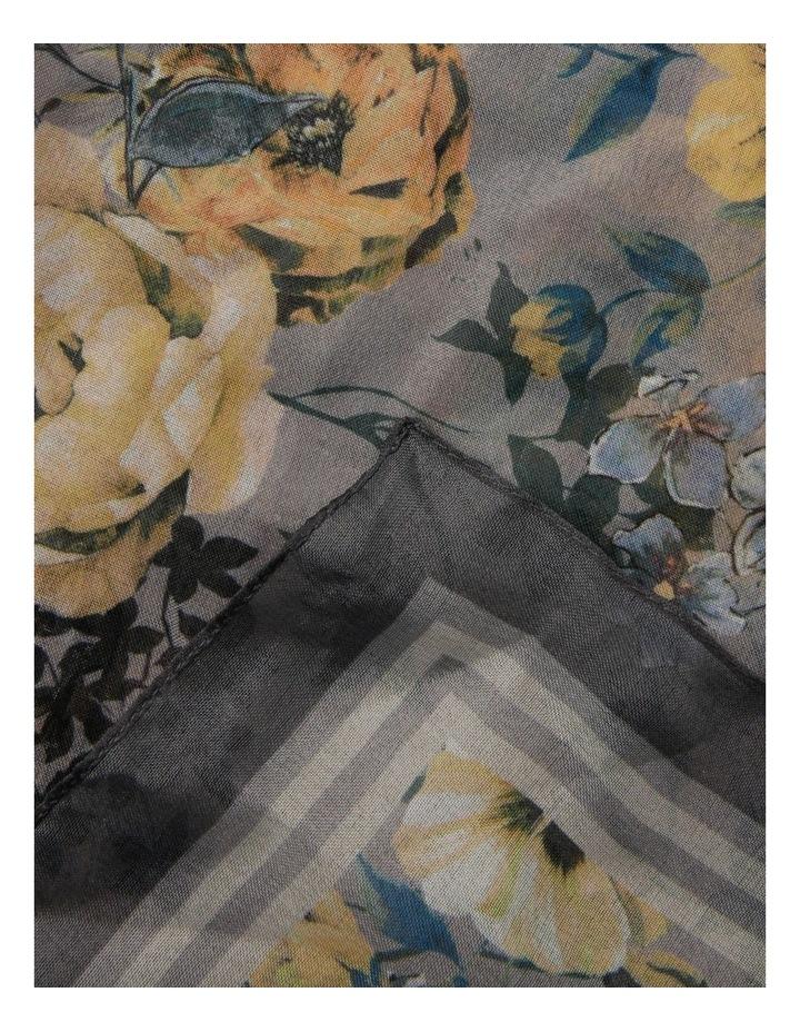 Watercolour Floral Chiffon Scarf image 2