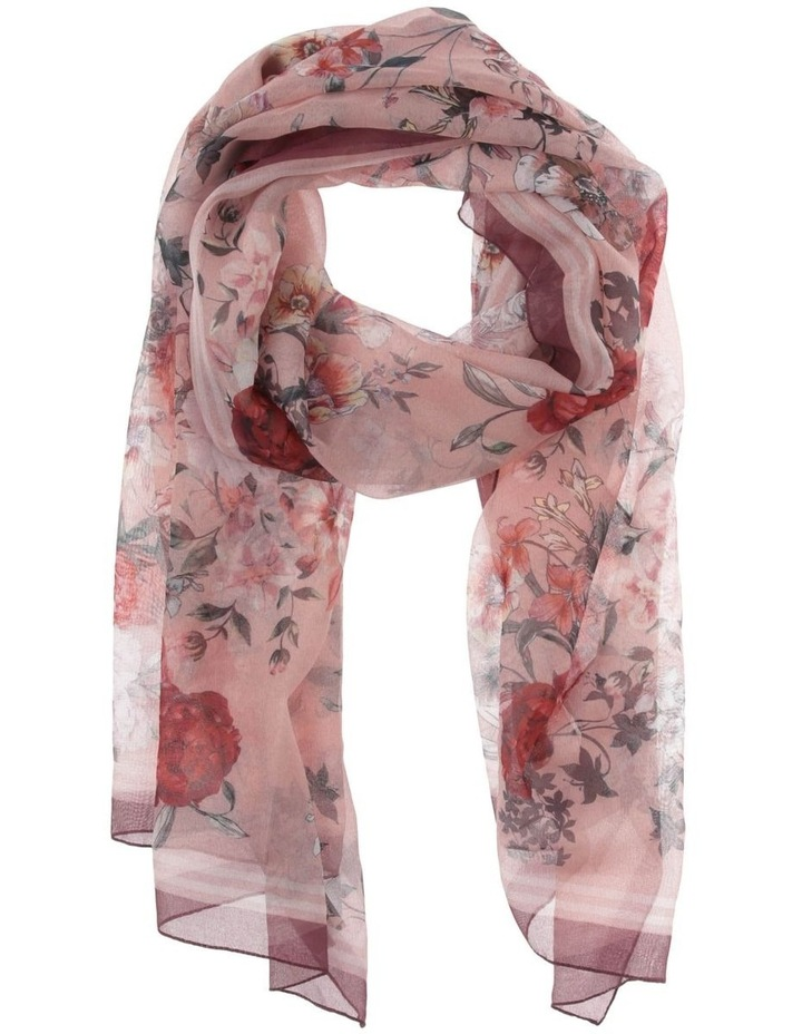 Watercolour Floral Chiffon Scarf image 1
