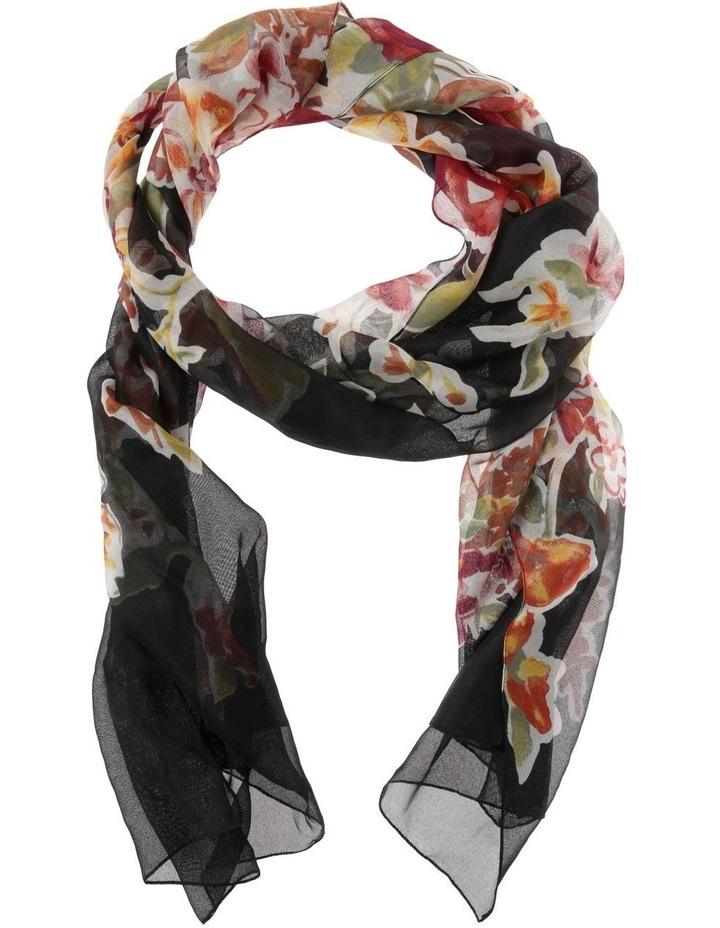 Floral Chiffon Scarf image 1