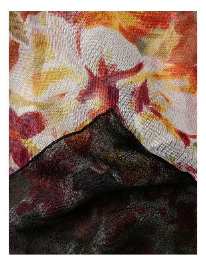 Floral Chiffon Scarf image 2