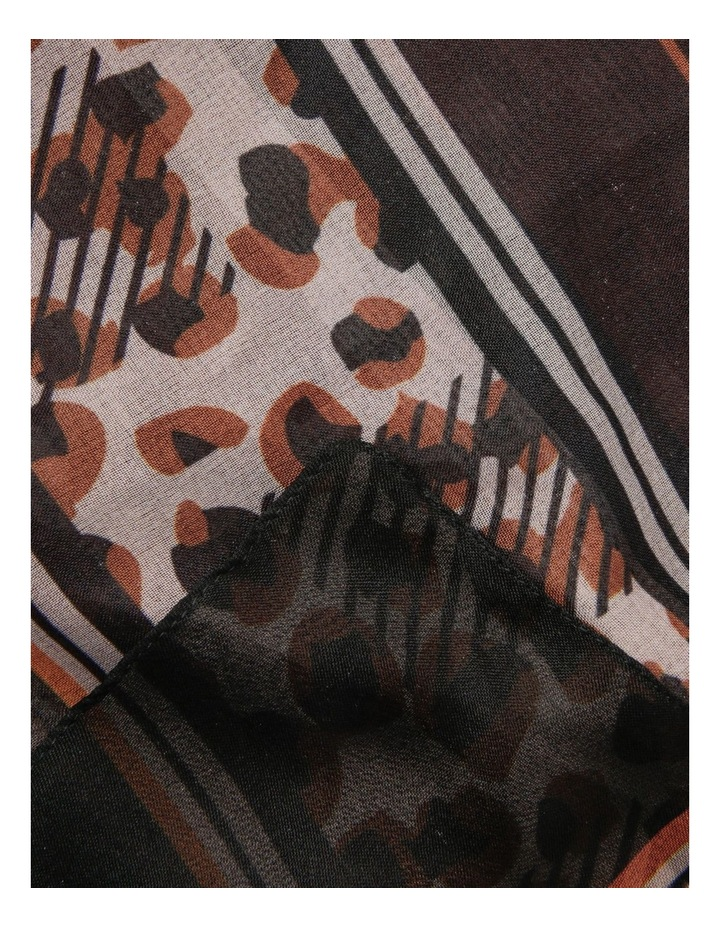 Mixed Leopard Print Chiffon Scarf image 2