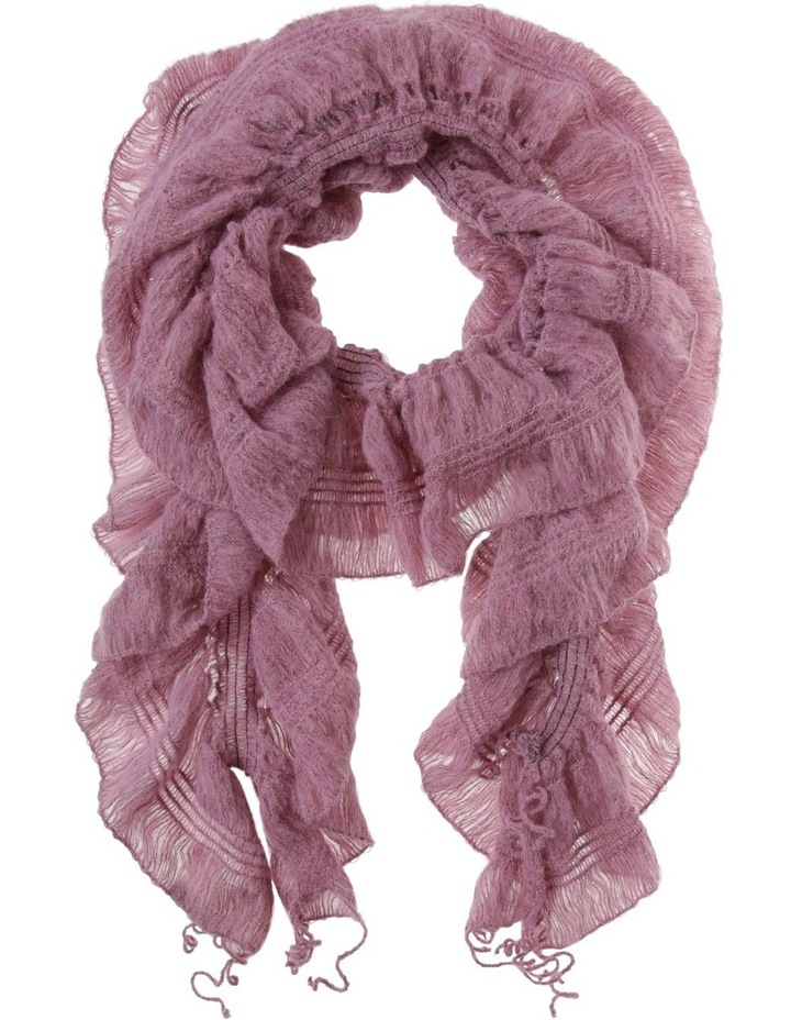 Ruched Ruffle Winter Scarf image 1