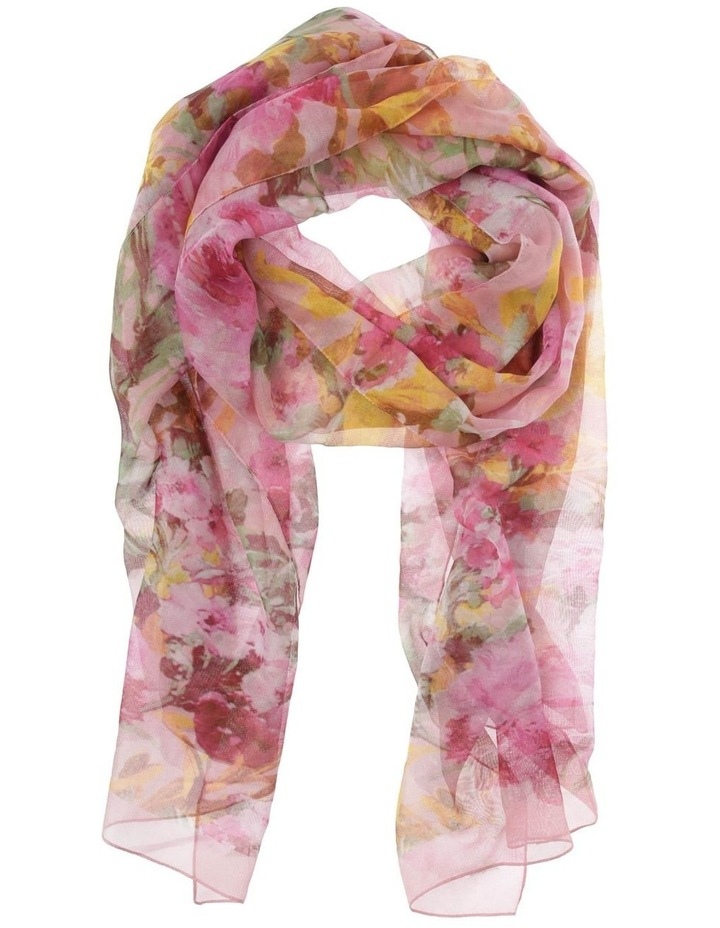 Floral Chiffon Scarf image 1