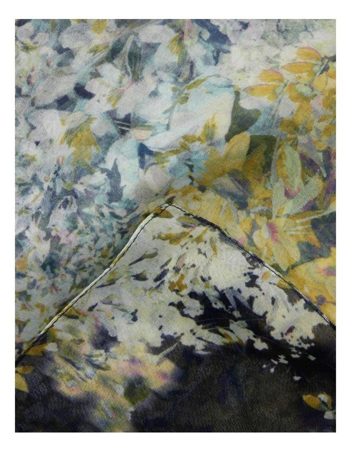 Small Floral Print Chiffon Scarf image 2