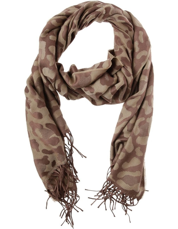 Reversible Jacquard Leopard Winter Scarf image 1