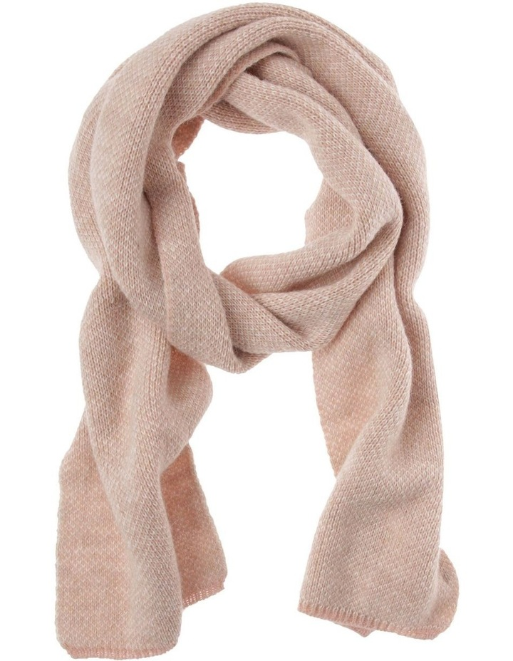 Contrast Knit Winter Scarf in Pink image 1