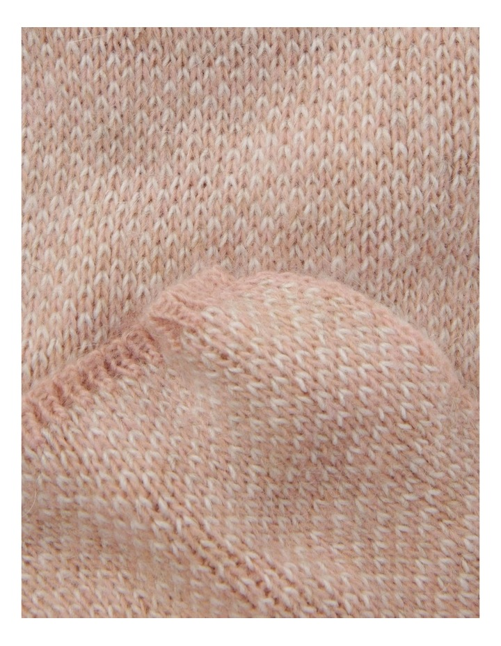 Contrast Knit Winter Scarf in Pink image 2