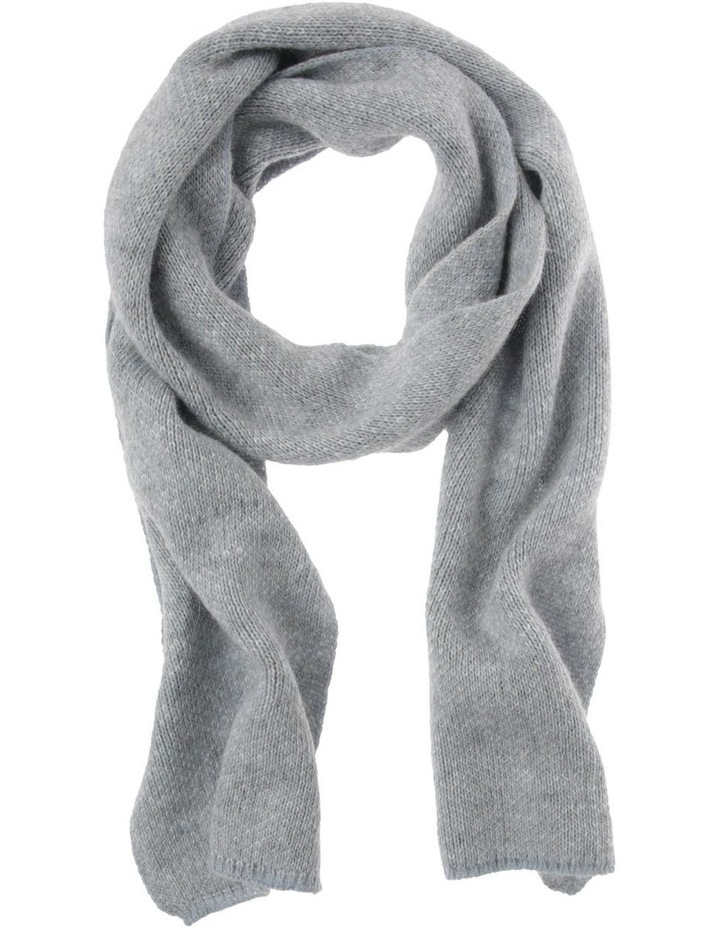 Contrast Knit Winter Scarf in Blue image 1