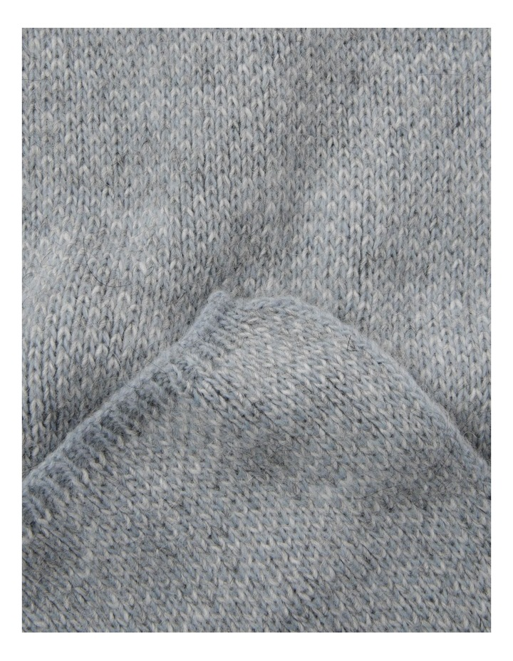 Contrast Knit Winter Scarf in Blue image 2