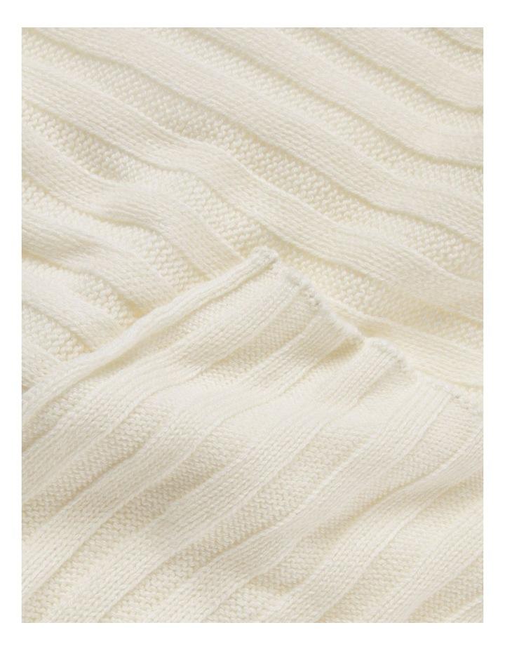 Cashmere Blend Knit Scarf image 2