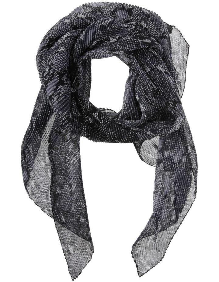 Pleated Snake Print Chiffon Scarf image 1