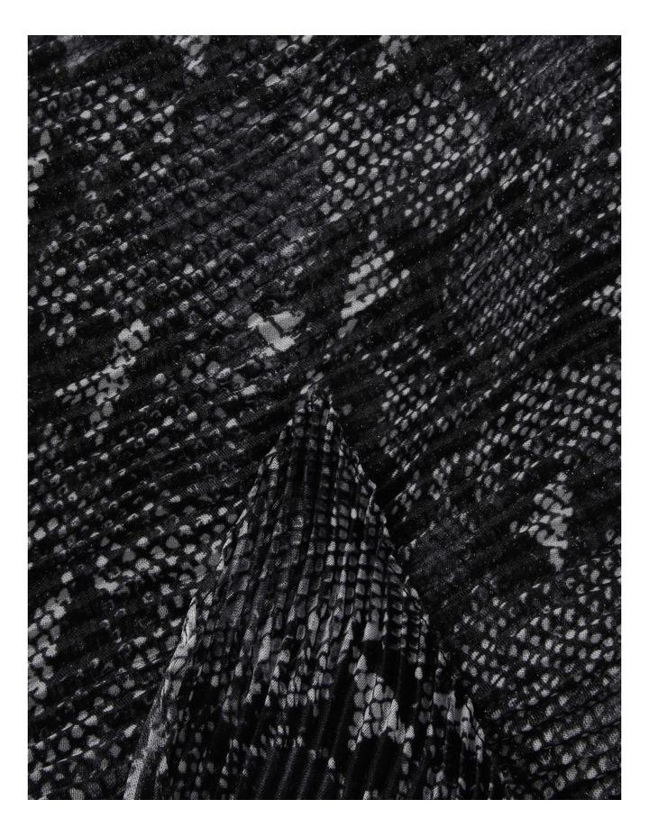 Pleated Snake Print Chiffon Scarf image 2