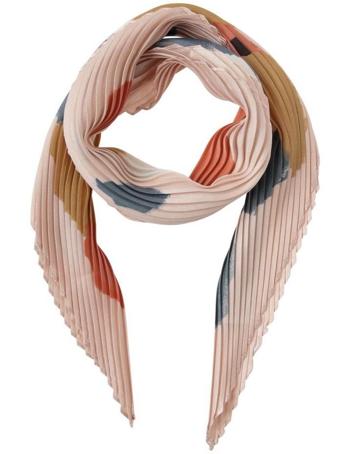 Colour-block Pleated Neckerchief Scarf image 1