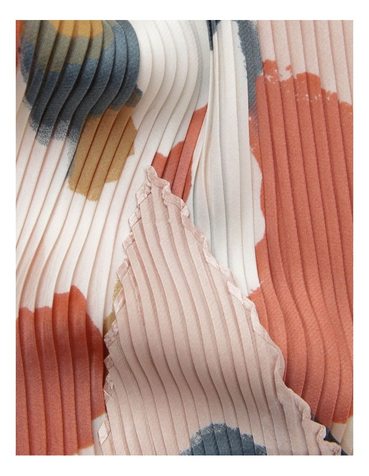 Colour-block Pleated Neckerchief Scarf image 2