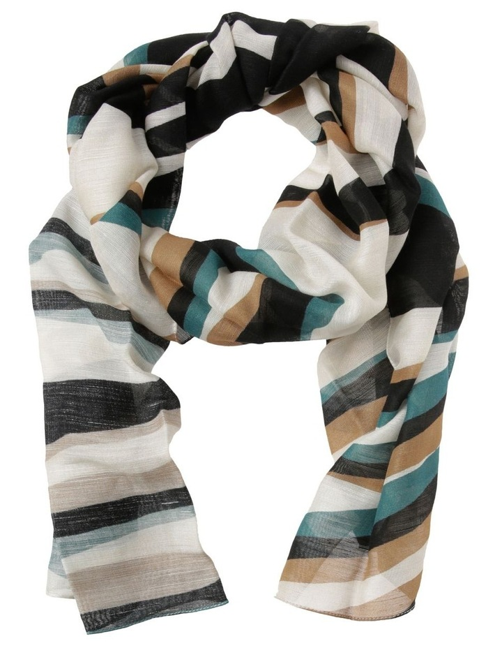Innovare Made in Italy Wavy Stripe Scarf image 1