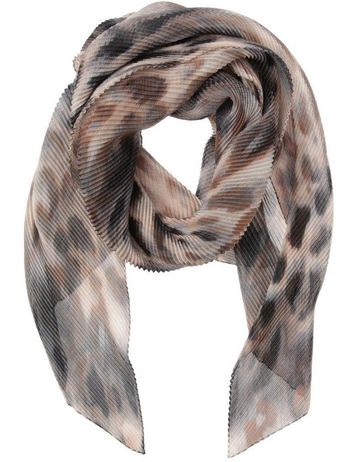 Innovare Made in Italy Pleated Animal Print Scarf image 1