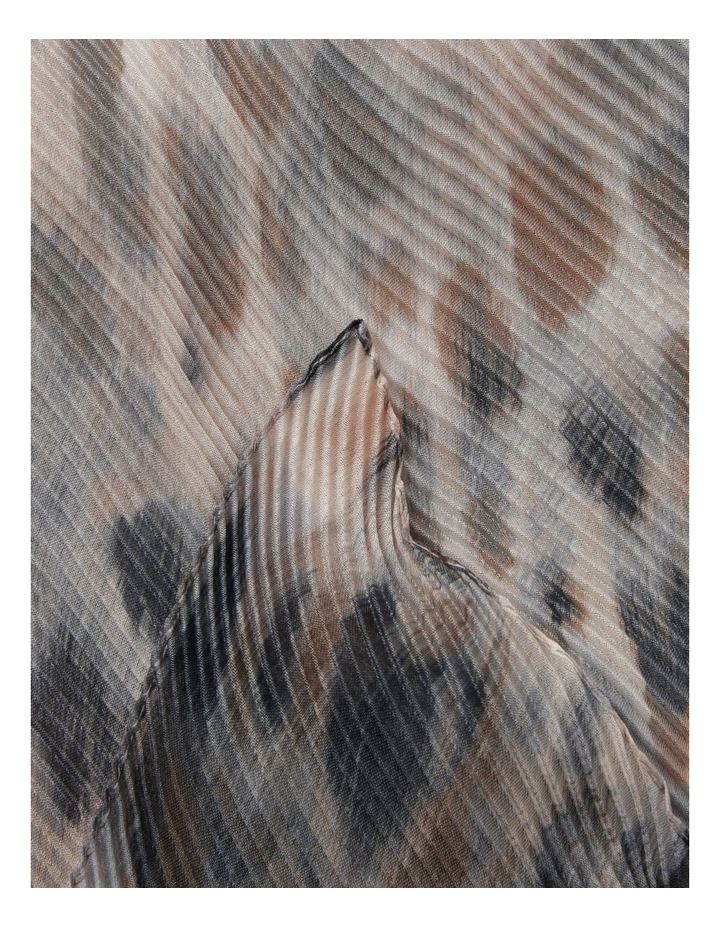 Innovare Made in Italy Pleated Animal Print Scarf image 2