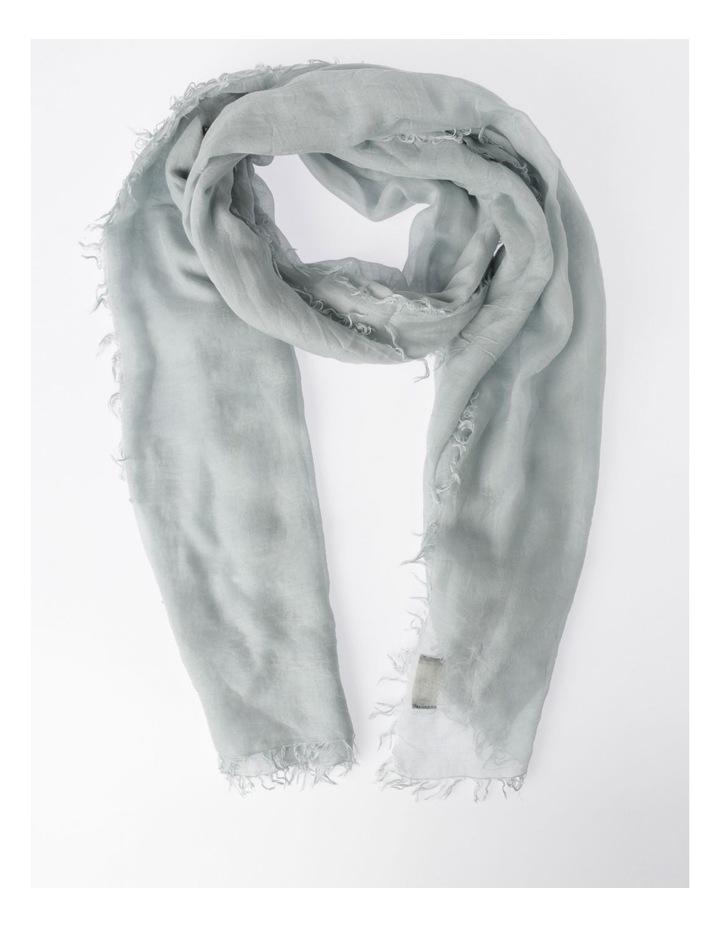 Tencel Fringed Scarf in Grey image 1