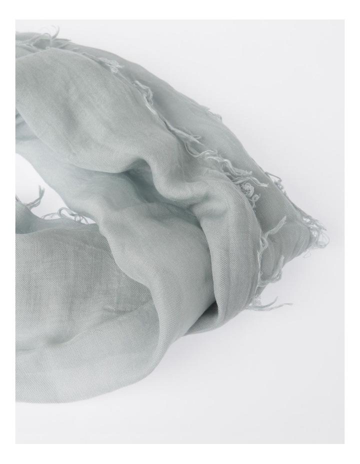 Tencel Fringed Scarf in Grey image 2