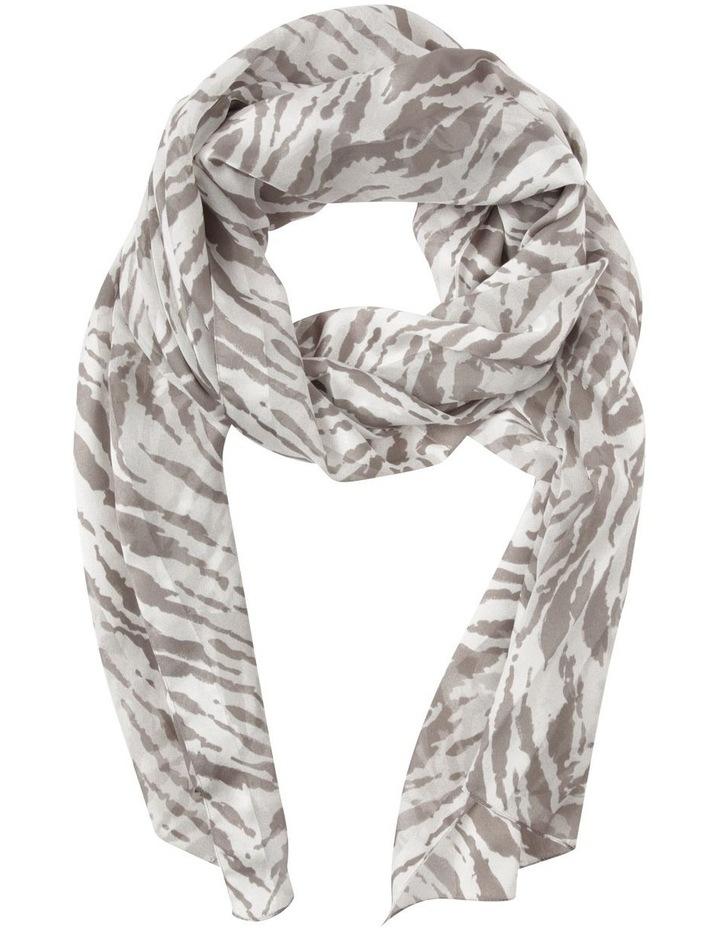 Zebra Print Satin Stripe Scarf image 1