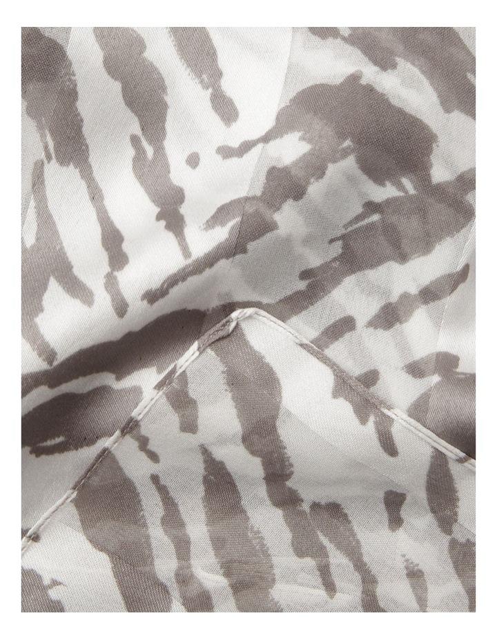 Zebra Print Satin Stripe Scarf image 2