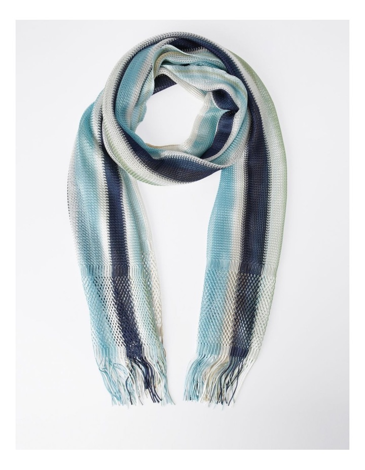 Ombre Fringe Loom Scarf in Blue image 1