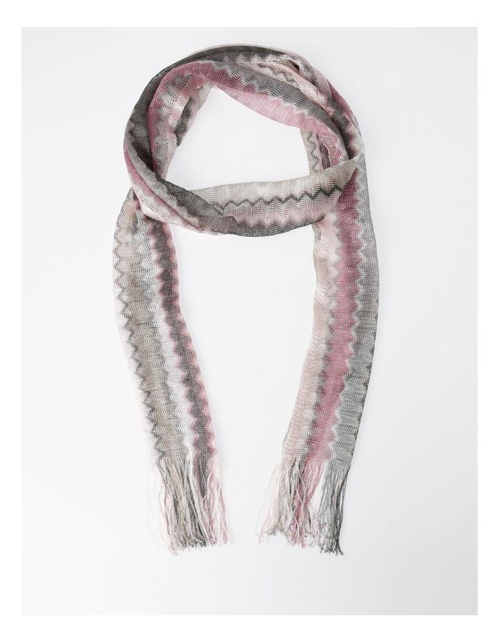 Wave Ombre Fringe Loom Scarf in Pink image 1