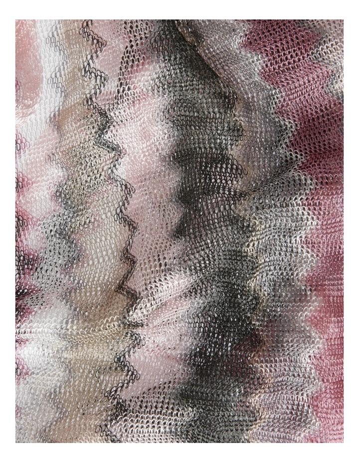 Wave Ombre Fringe Loom Scarf in Pink image 3