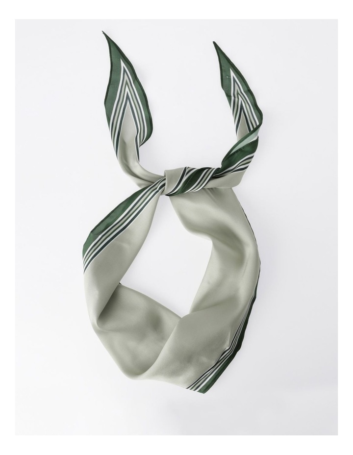 FBSF20155-031 Striped Edge Neckerchief Scarf image 1