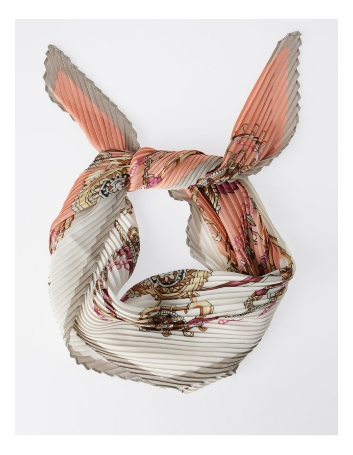 FBSF20123-031 Pleated Print Neckerchief Scarf image 1