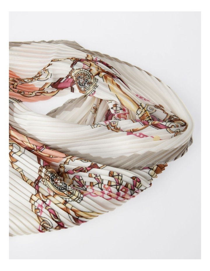 FBSF20123-031 Pleated Print Neckerchief Scarf image 2