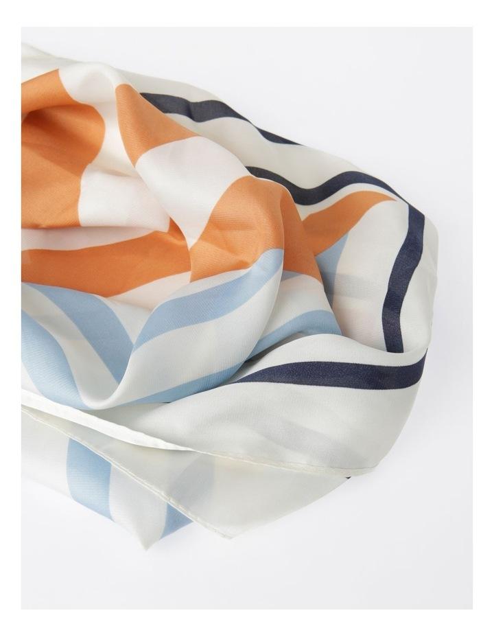 Multi Stripe Print Neckerchief Scarf image 2