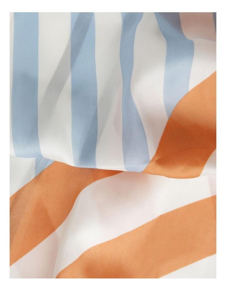 Multi Stripe Print Neckerchief Scarf image 3