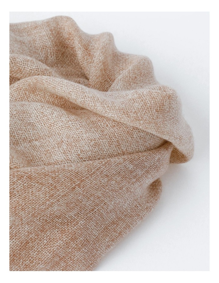 Tan Tonal Wool and Cashmere Scarf image 2