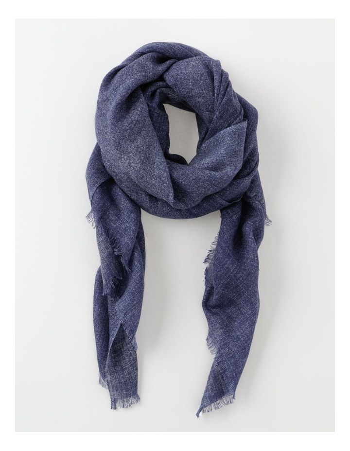 Midnight Tonal Wool and Cashmere Scarf image 1