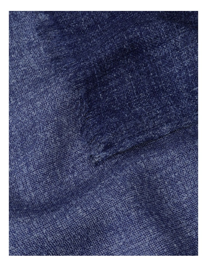Midnight Tonal Wool and Cashmere Scarf image 3