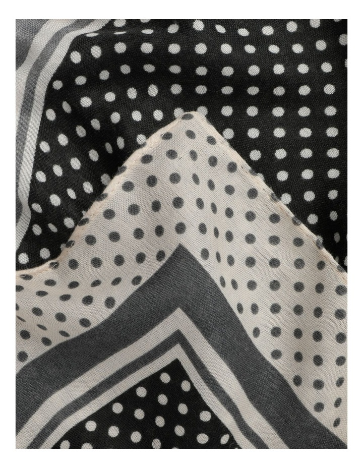 Spot Bordered Scarf image 3