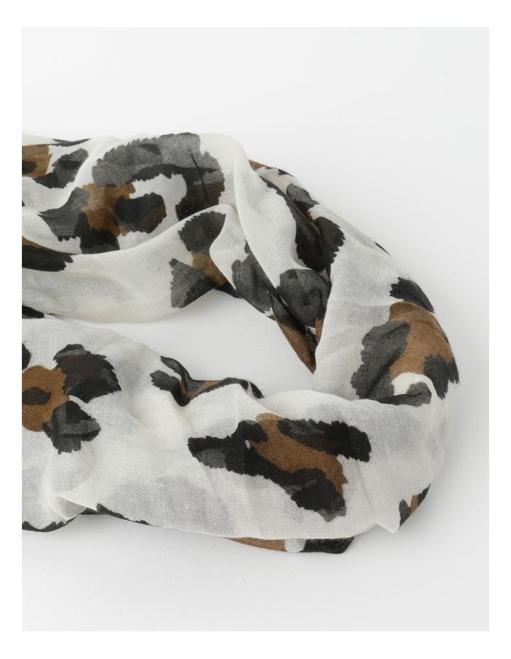 Animal Print Tassel Scarf image 2