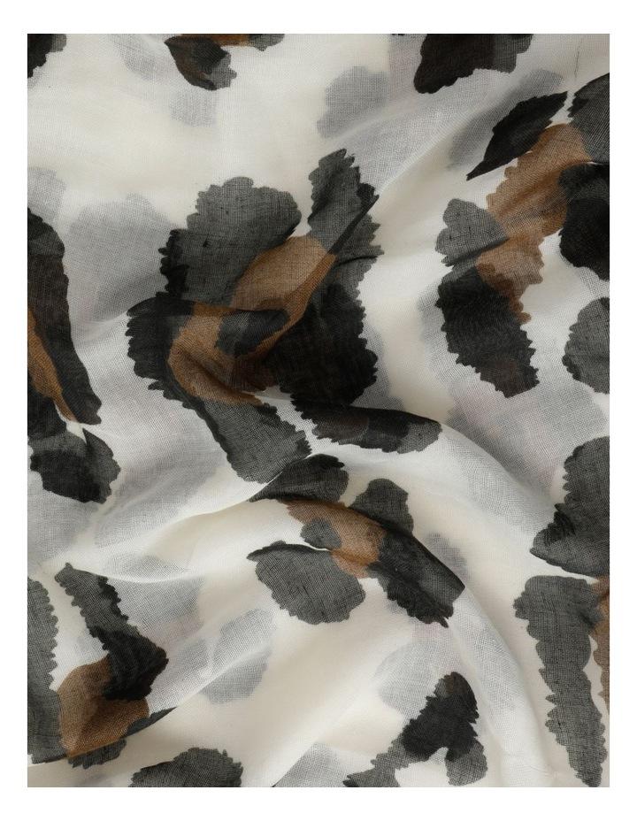 Animal Print Tassel Scarf image 3