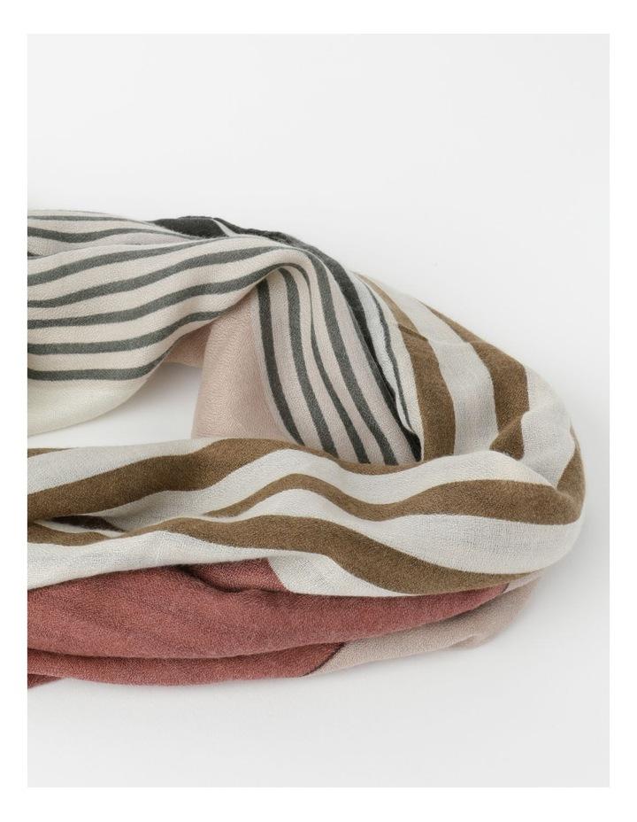 Colour Block Stripe Scarf image 2