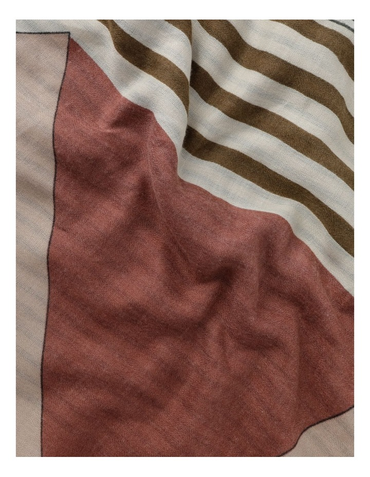 Colour Block Stripe Scarf image 3