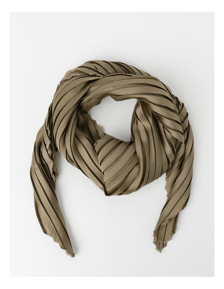 Silky Pleated Neckerchief  Scarf image 1