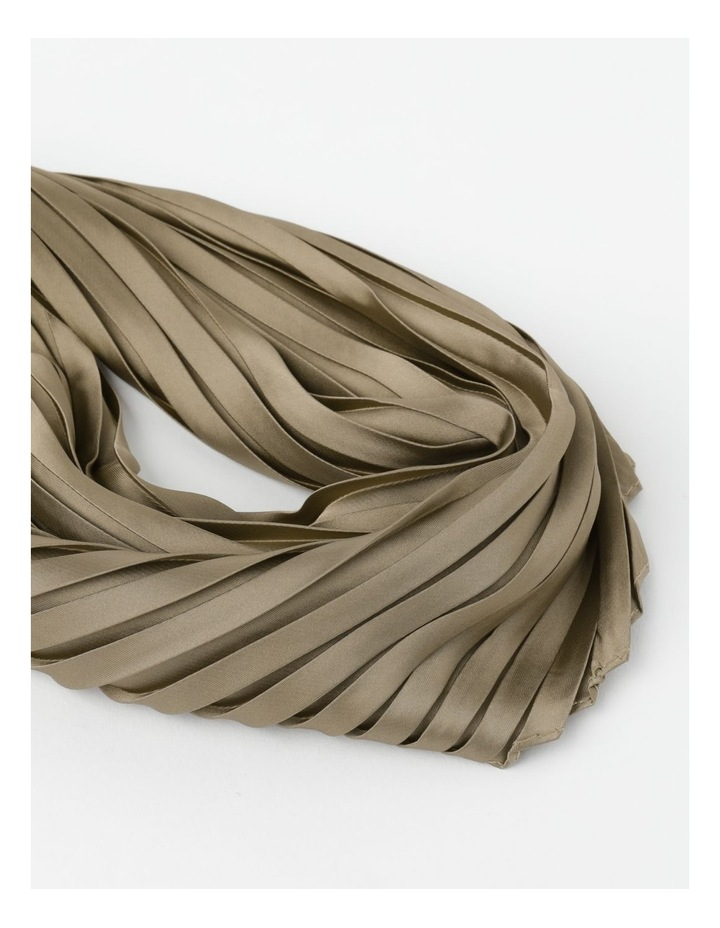 Silky Pleated Neckerchief  Scarf image 2