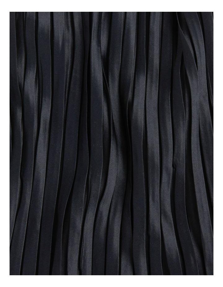 Silky Pleated Black Neckerchief Scarf image 3