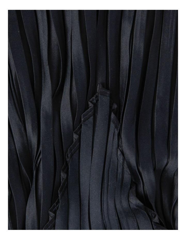 Silky Pleated Black Neckerchief Scarf image 4