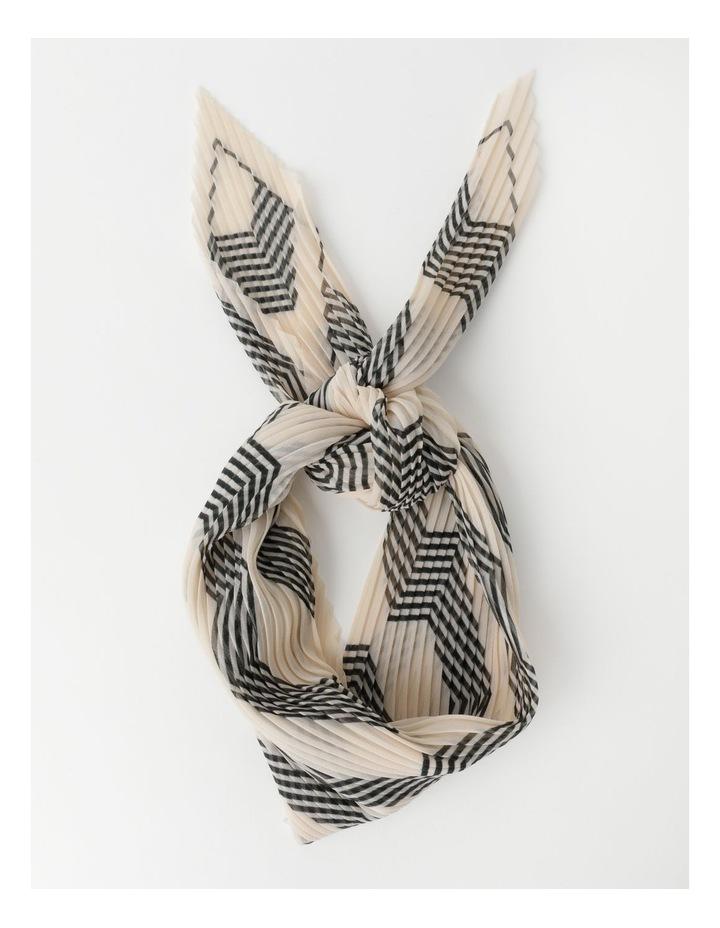 Pleated Stripe Neckerchief  Scarf image 1