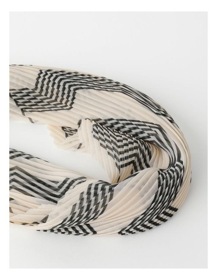 Pleated Stripe Neckerchief  Scarf image 2