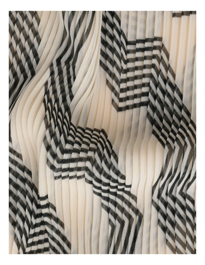 Pleated Stripe Neckerchief  Scarf image 3