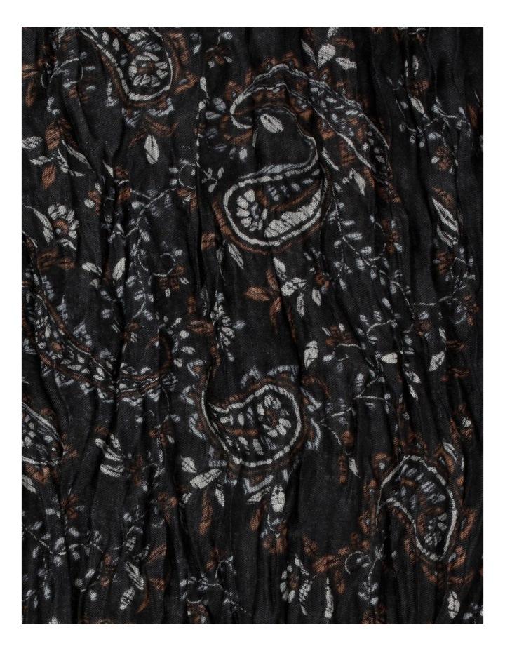 Printed Brown Crinkle Scarf image 2
